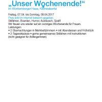 """""""Unser Wochenende"""" Frauenskiausfahrt"""